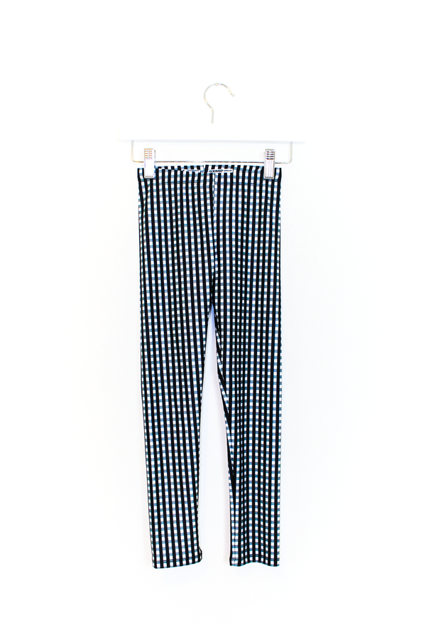 Black Gingham Kids Legging