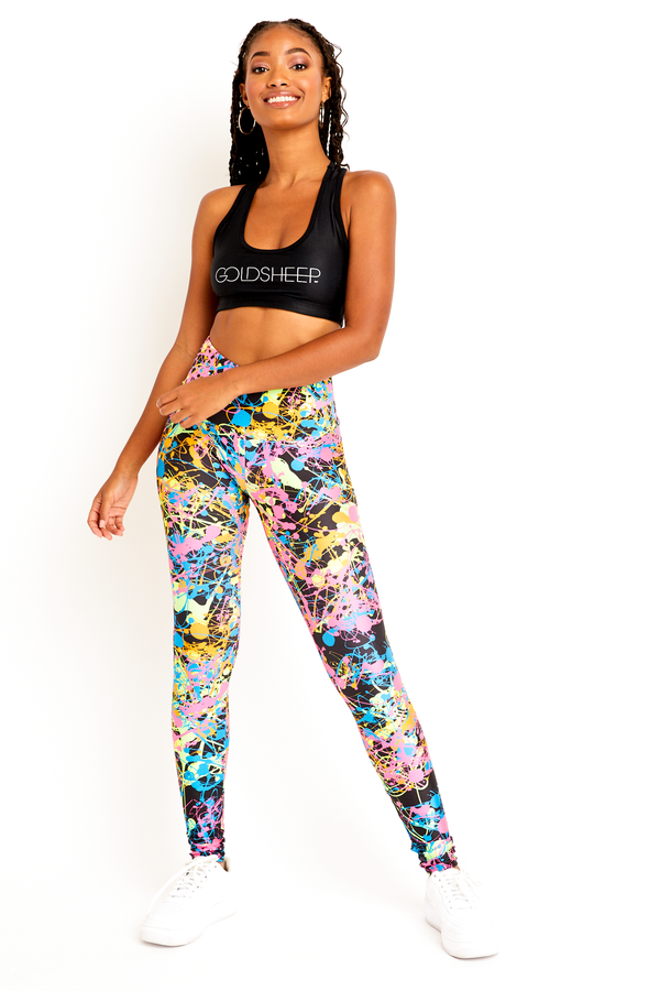 Black Neon Splatter Legging