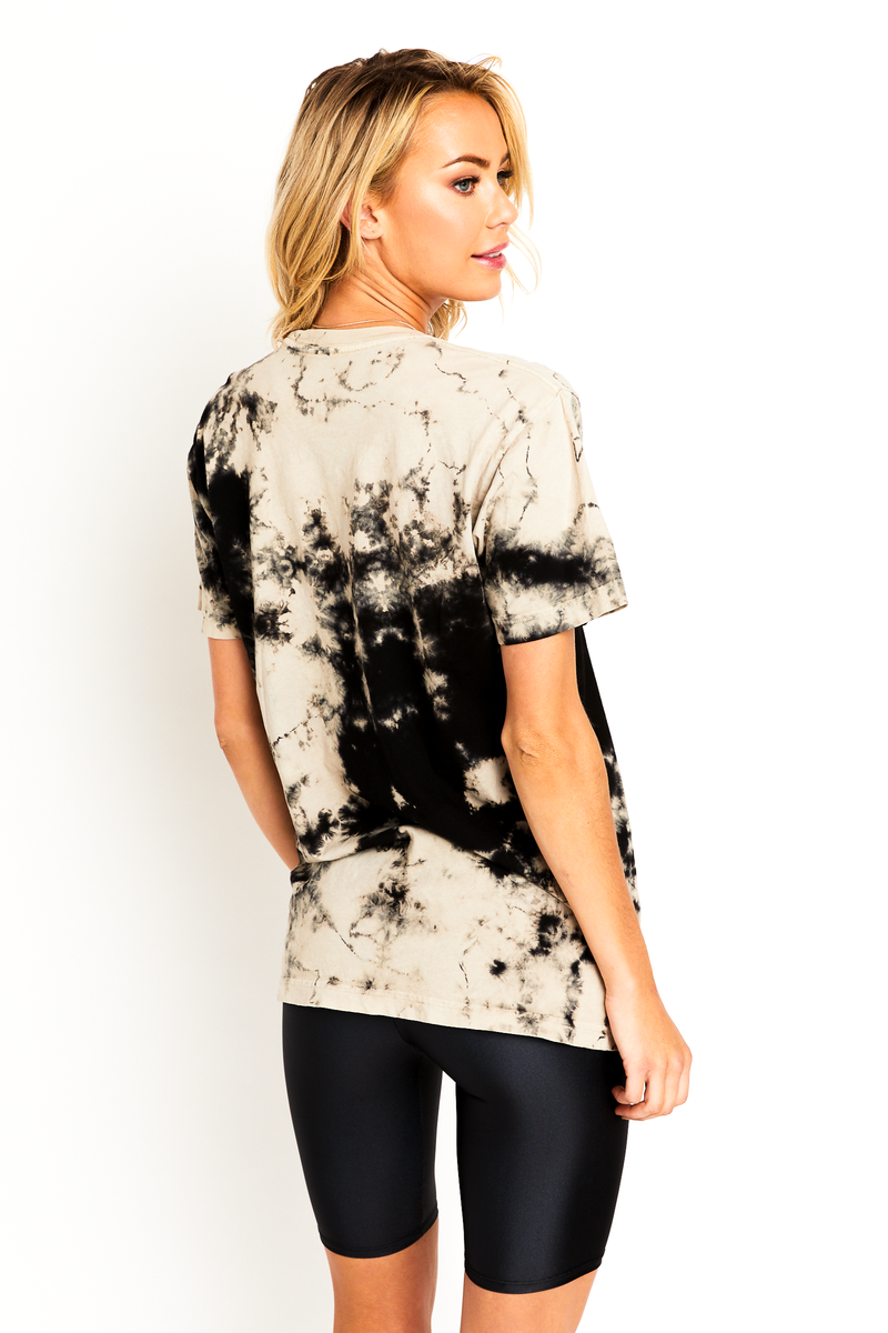 Black and White Tie Dye T-Shirt
