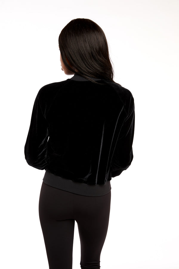 Black GS Velvet Jacket