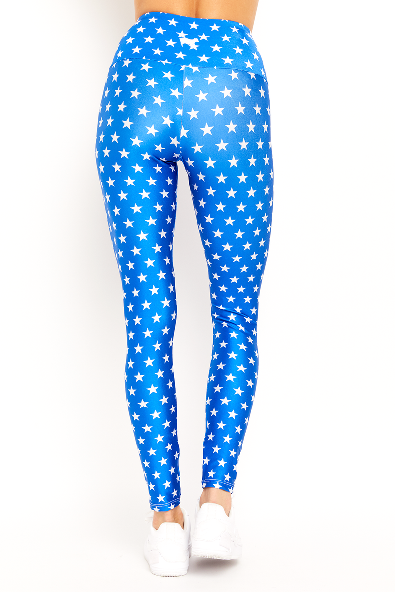 Blue Mini Stars Legging