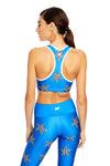 Blue Moroccan Stars Sports Bra