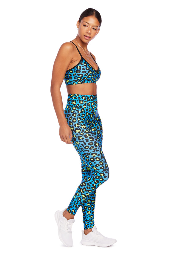 Neon Blue Cheetah Legging