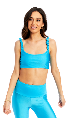 Basic Turquoise Scrunchie Top