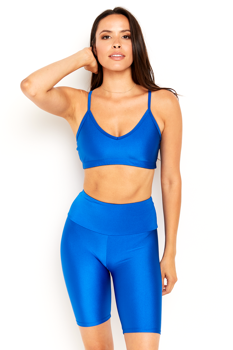 Bright Blue V Neck Bralette