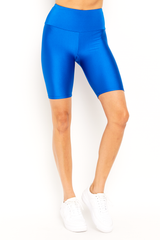 Bright Blue Biker Short