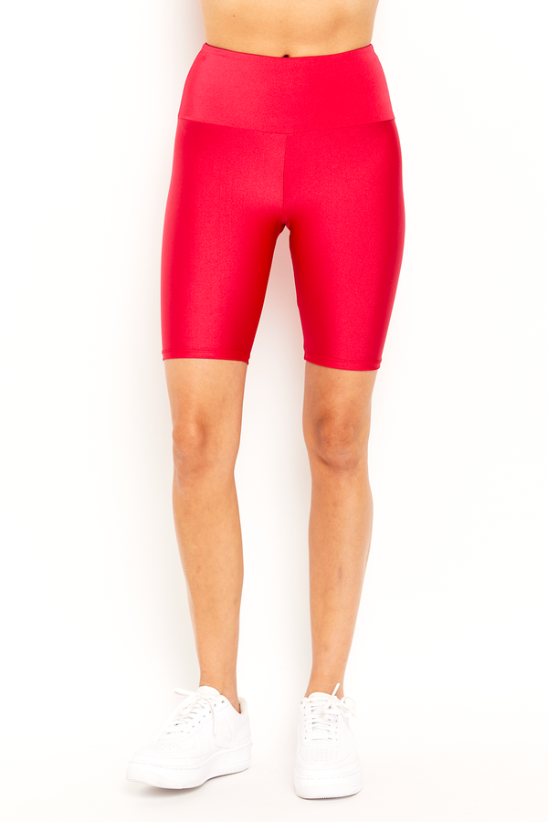 Bright Red Biker Short