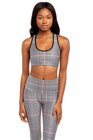 Classic Plaid Sports Bra