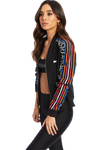 Medina Stripes Bomber Jacket