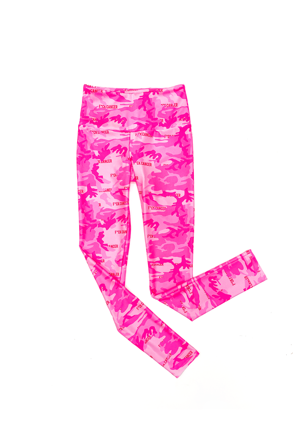 F Cancer Camo GS x KAB Leggings