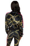 Gold Chains Velvet Jacket