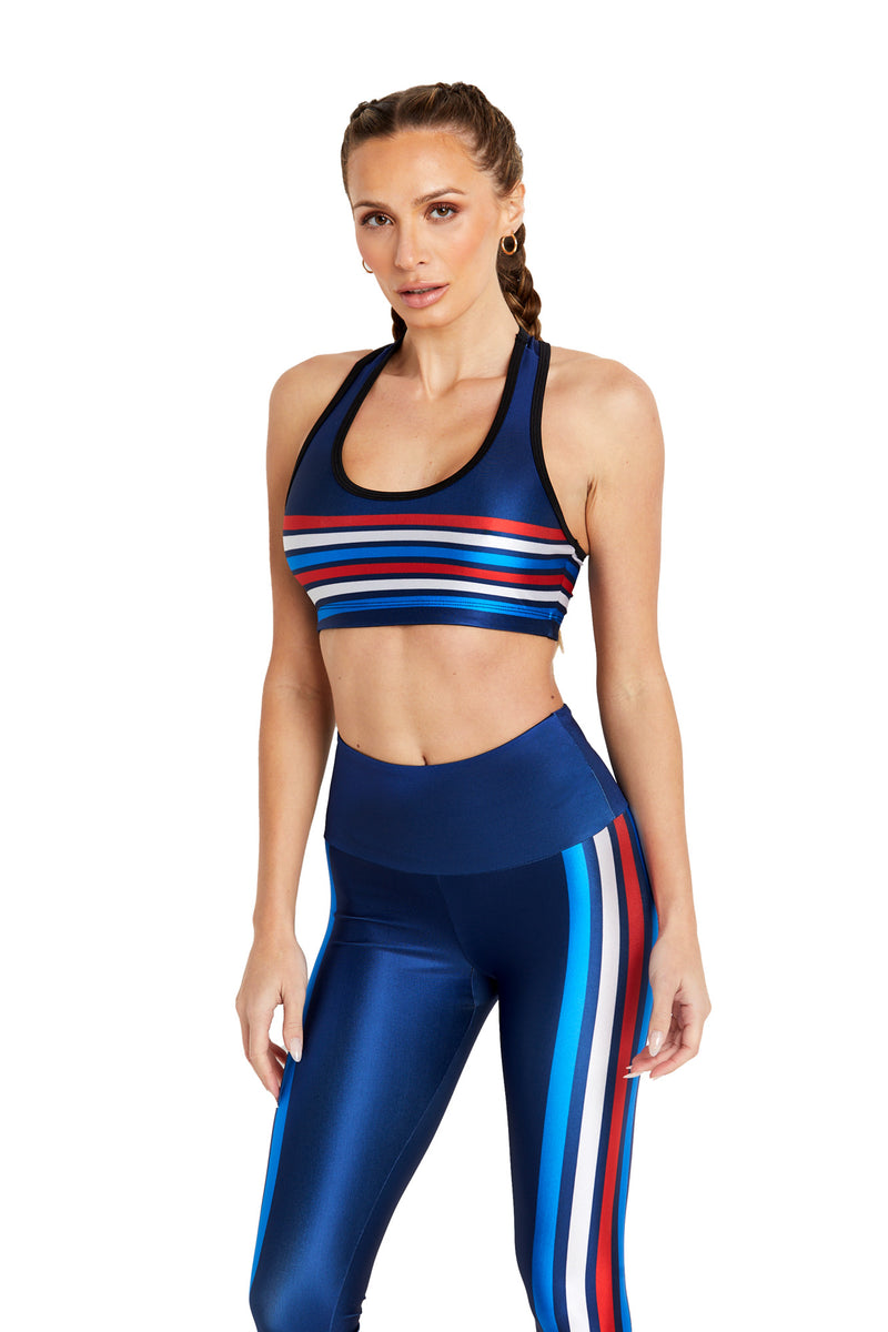 All-American Stripes Sports Bra