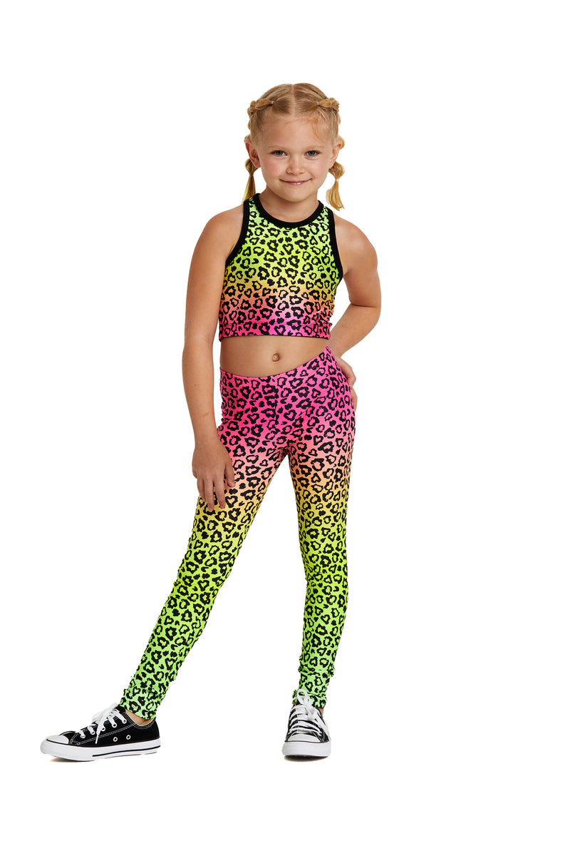 Ombre Cheetah Kids Crop Top