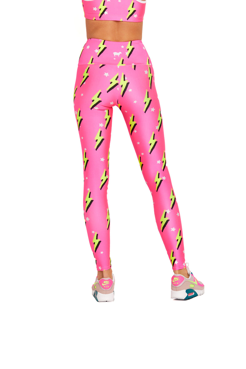 Pink Neon Bolts Legging