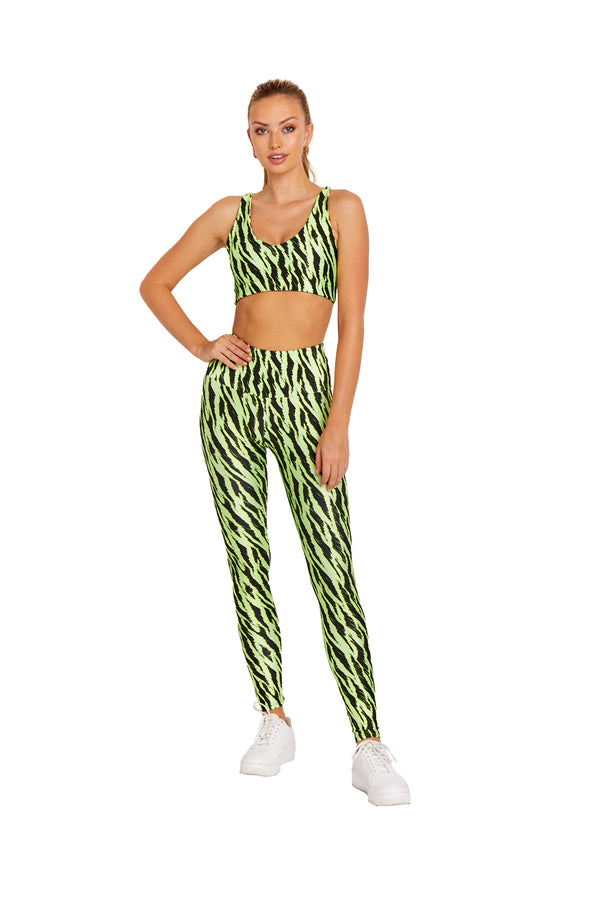Neon Green Tiger Legging