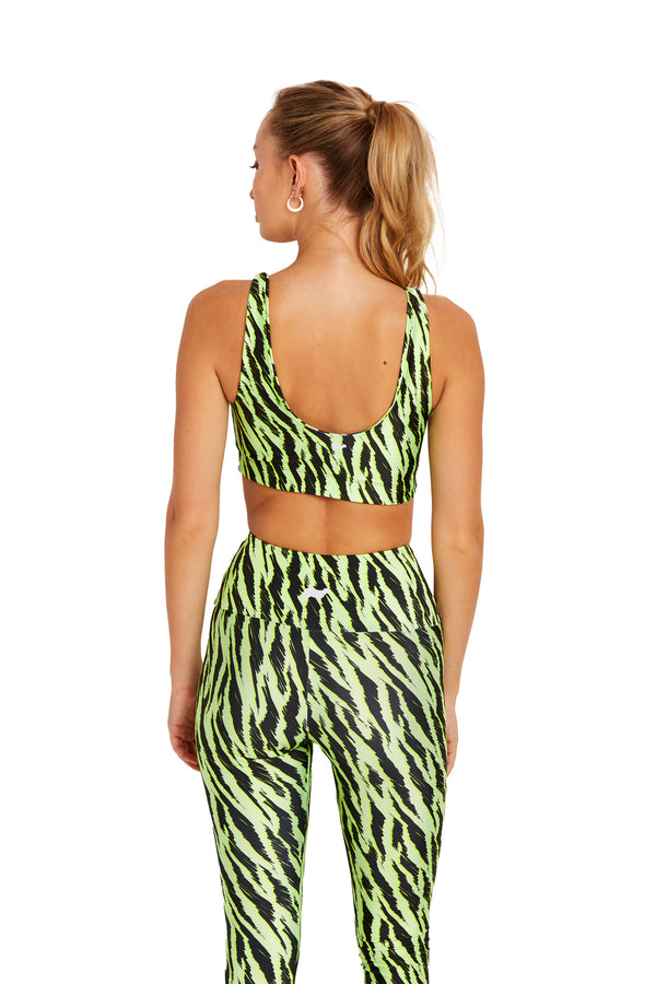 Neon Green Tiger U-Bra