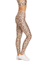 Tan Leopard Legging