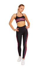 Neon Pink Tiger Stripes Legging