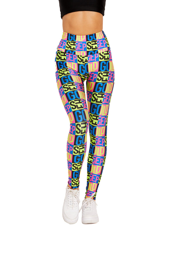 Neon Goldsheep Legging