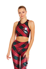 Mando Seasonal Plaid Crop Top