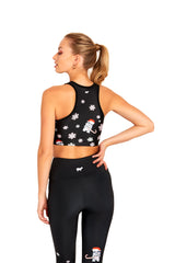 Candy Cane Storm Trooper Crop Top