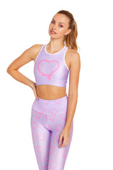 Purple Hearts Crop Top