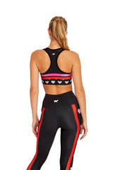 Heart Stripes Sports Bra