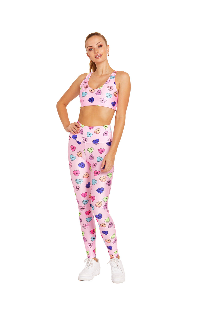 Pink Candy Hearts Legging