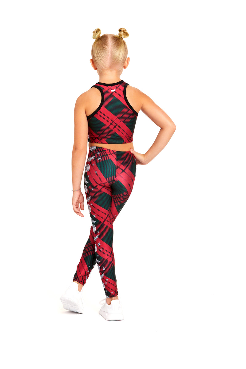 Mando Seasonal Plaid Crop Top Kids