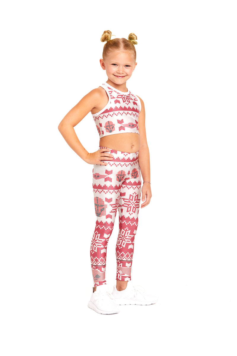 Mando Holiday Knit Crop Top Kids
