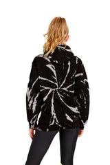 Black and White Spiral Hoodie