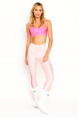 Pink Edge Stripes Legging