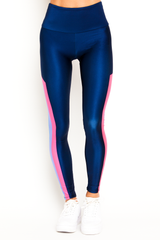 Navy Edge Stripes Legging