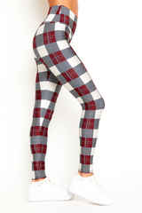 White Plaid Legging