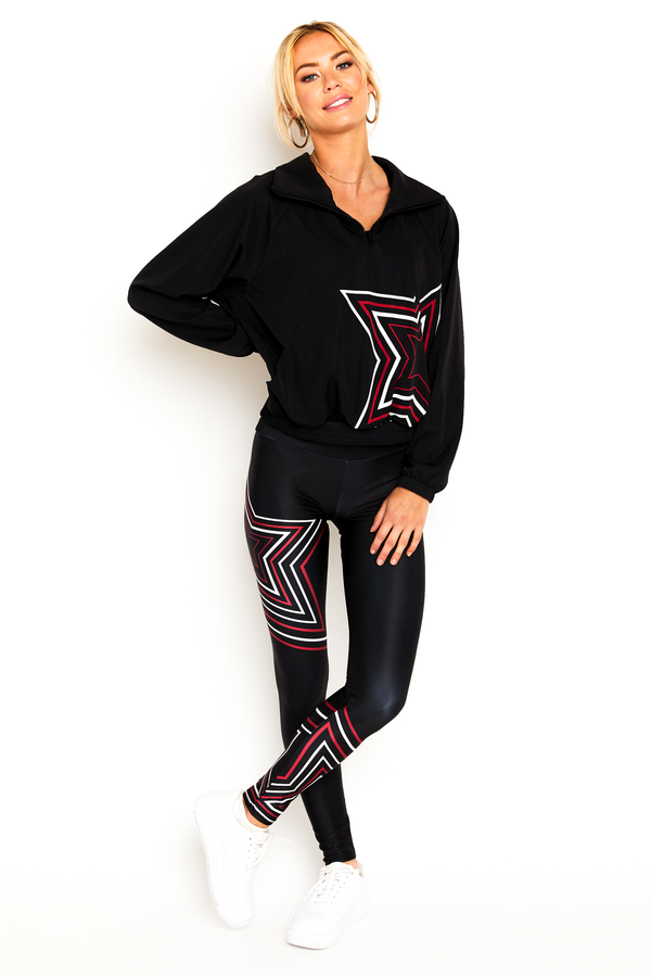 Black Flash Star Legging