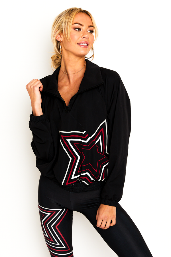 Black Flash Star Windbreaker