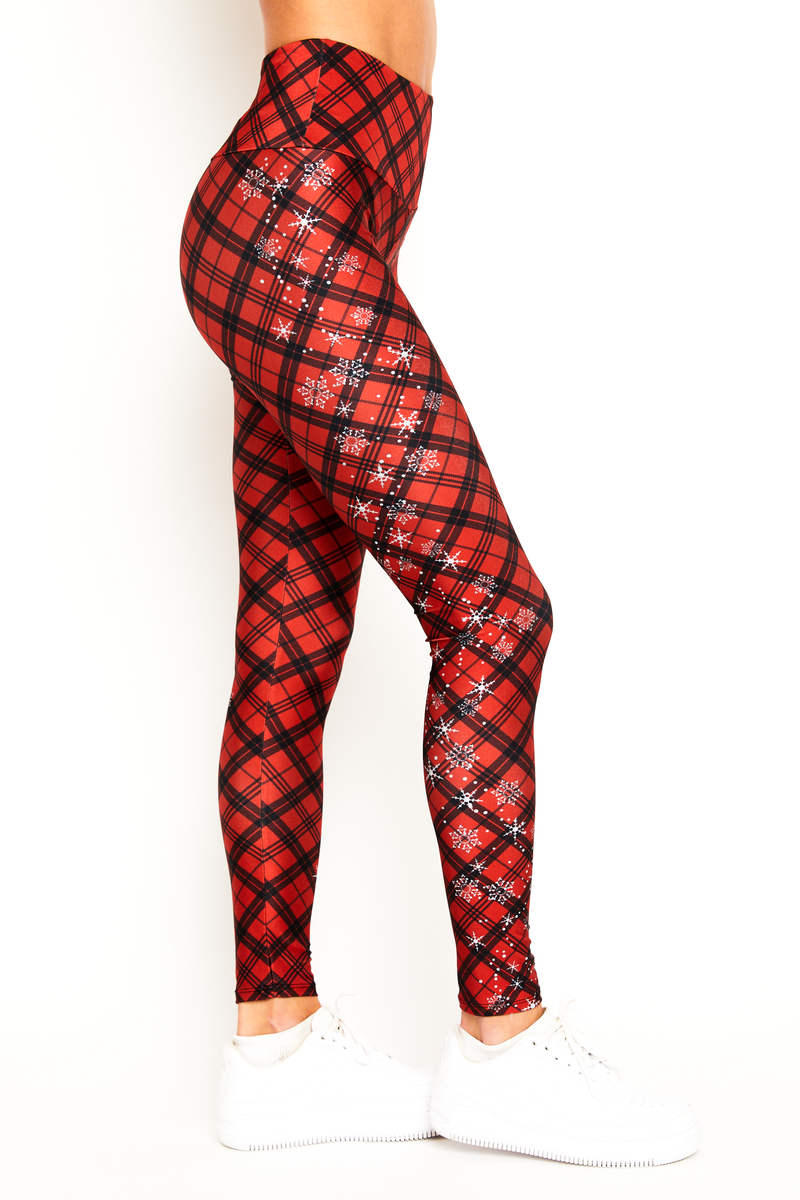 Red Snowflake Plaid Legging