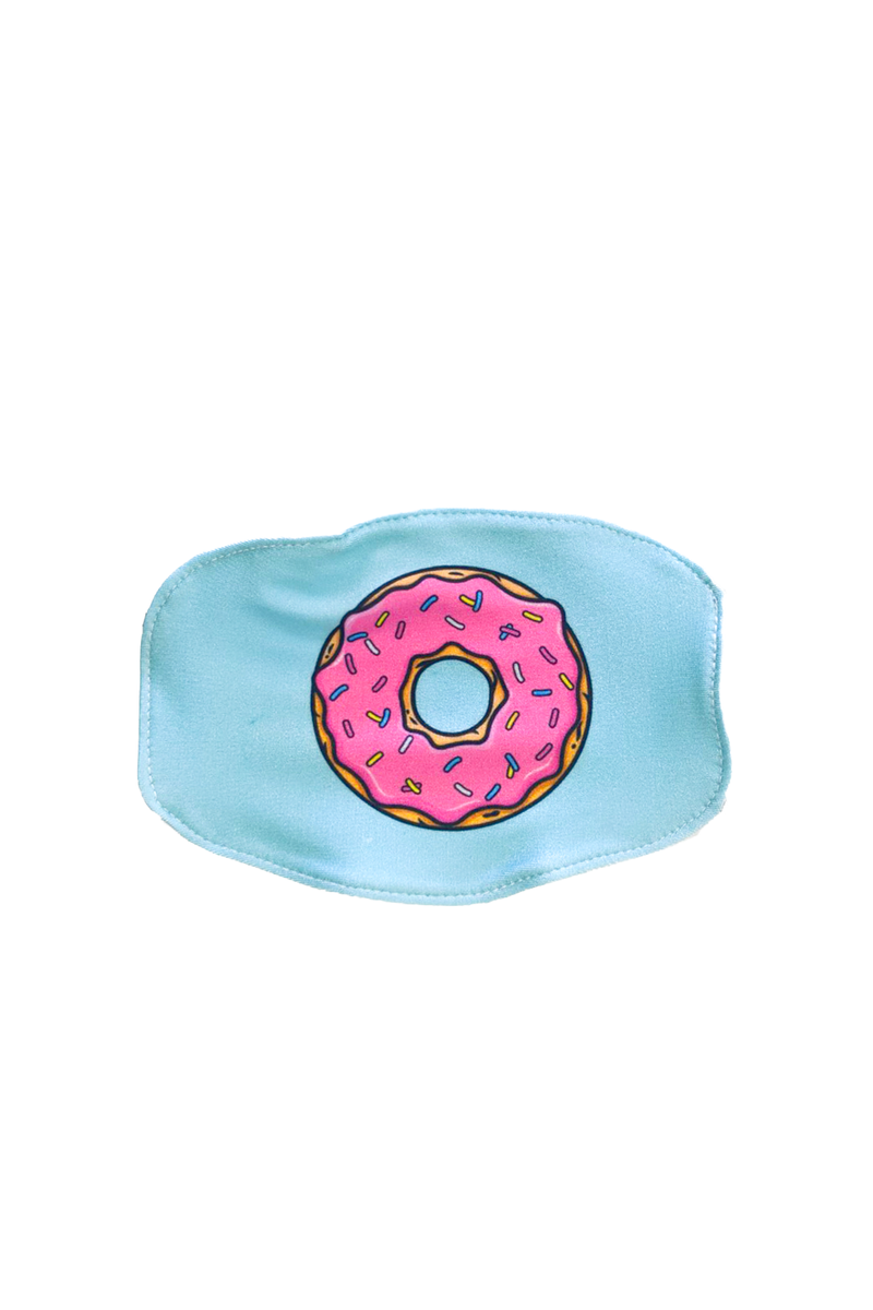 Kids Aqua Donut Mask