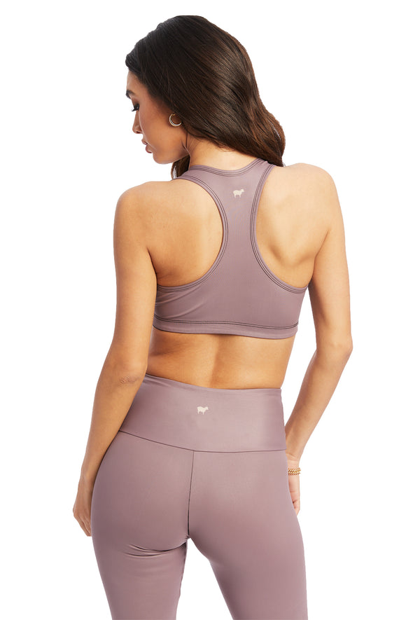Lavender Wet Shine Sports Bra