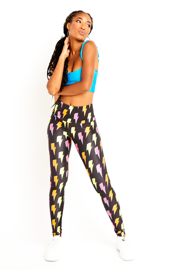 Neon Lightning Bolt Legging