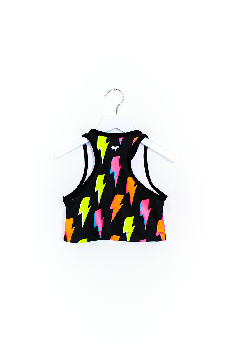 Lightning Bolt Crop Top Kids