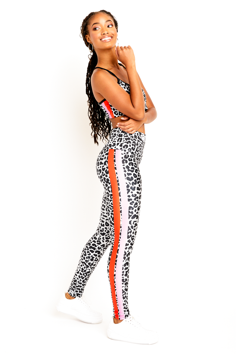 Move Like Morgan Cheetah Stripe Leggings
