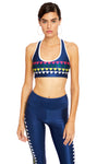 Triangle Rainbow Navy Sports Bra