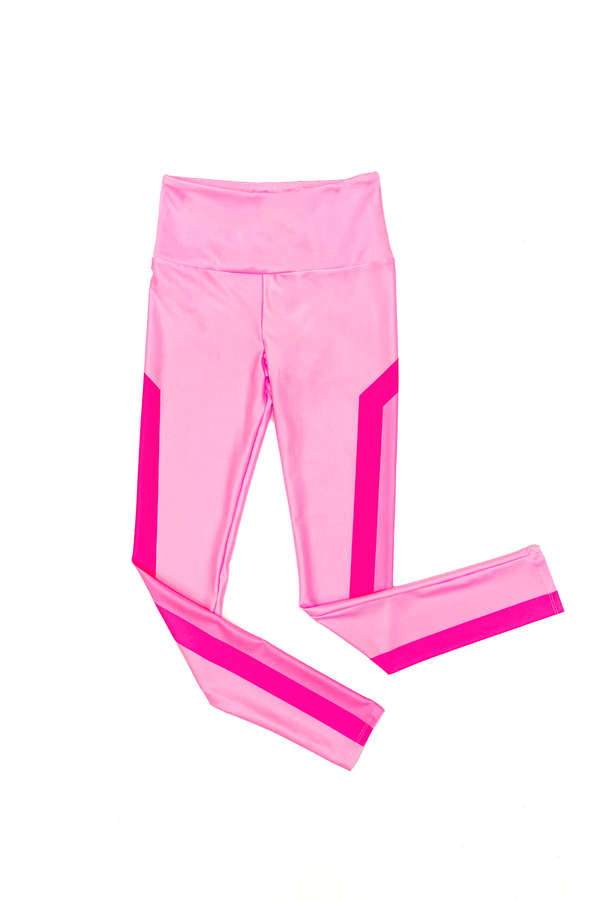 Neon Pink Chevron GS x KAB Leggings