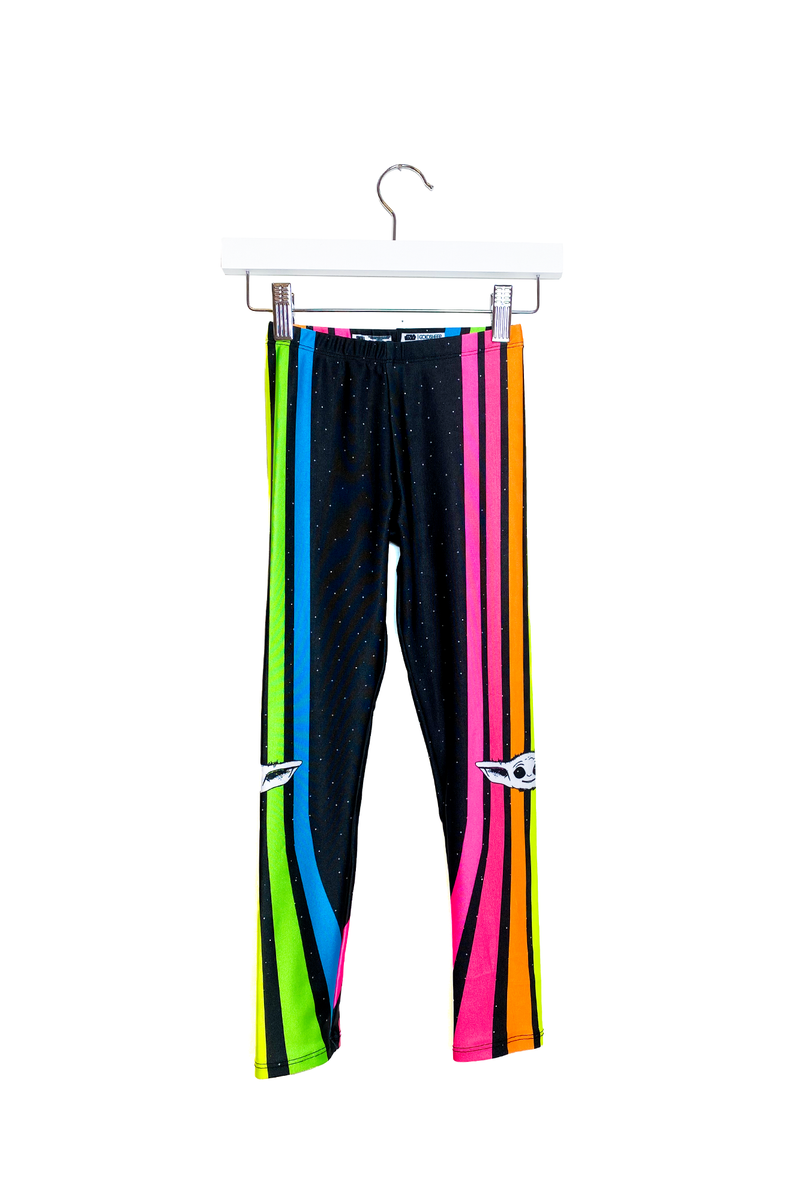 Neon Stripe Child Kids Legging