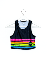 Neon Stripe Child Women Crop Top
