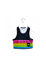 Neon Stripe Child Crop Top Kids