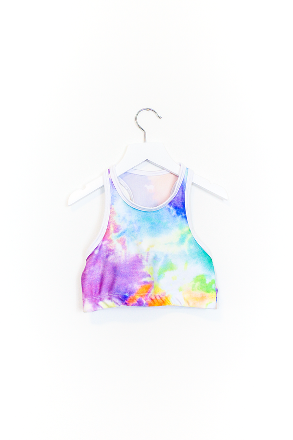 Neon Tie Dye Crop Top Kids