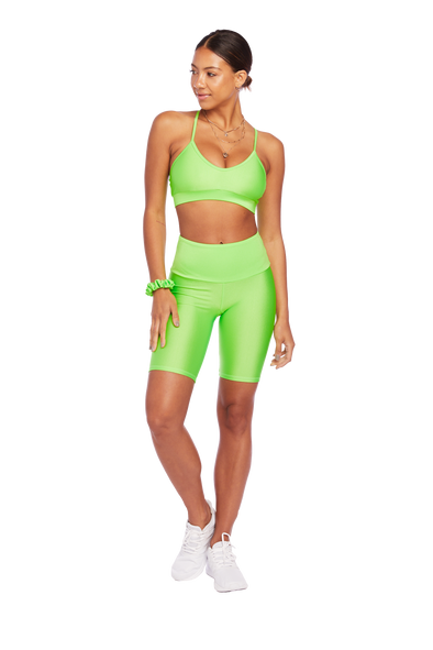 Basic Neon Green Biker Shorts