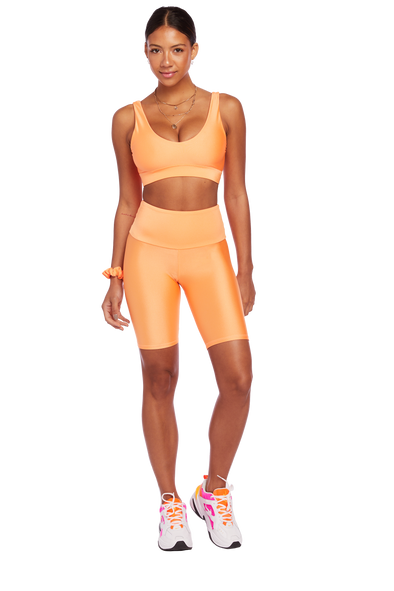 Basic Neon Orange Biker Shorts